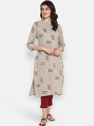 Grey Pure Cotton Kurta(JNE3530)