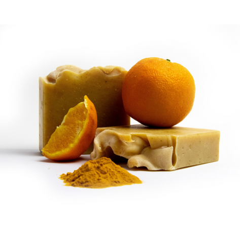 Handcrafted Soap Bar – Turmeric + Orange Oil