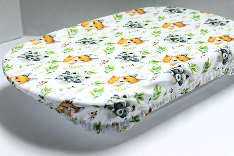 Reusable pan cover - Raccoons and foxes