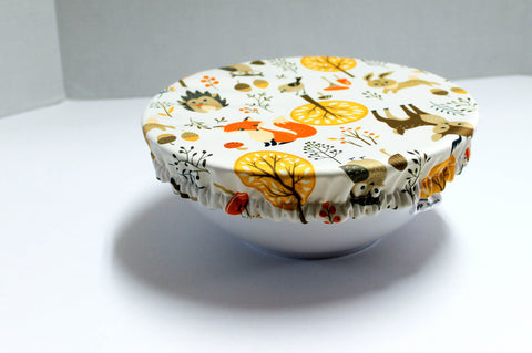 Reusable bowl cover - Woodland animals