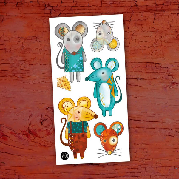 Temporary tattoo - Mimi the mouse and her friends