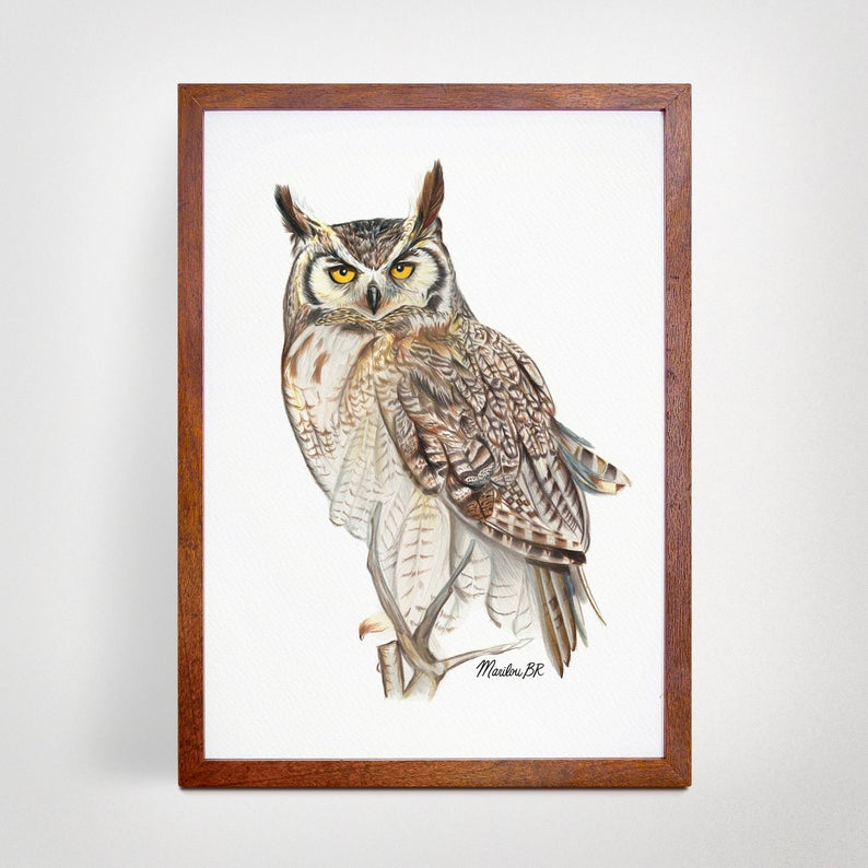 Poster - Great-horned Owl