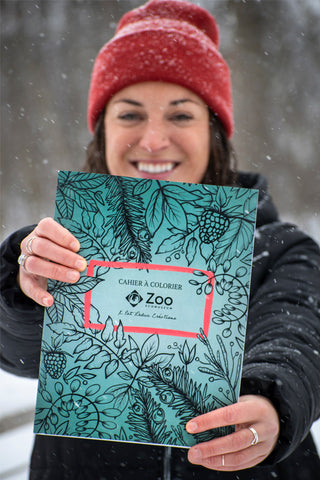 Québec's wildlife coloring book