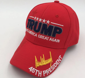 TRUMP SIGNATURE MAKE AMERICA GREAT AGAIN Red Hat Baseball Cap