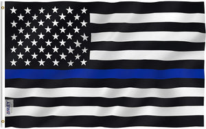 Thin Blue Line USA Flag 3x5