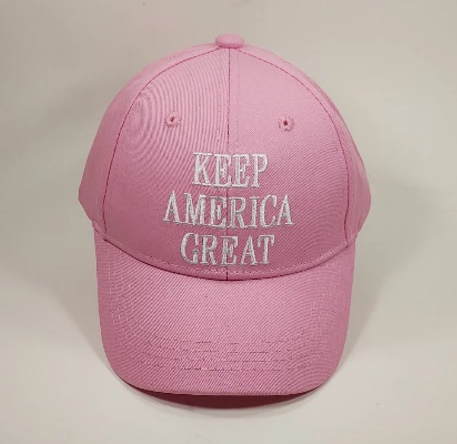 'Kids Size' KEEP AMERICA GREAT Pink Hat Baseball Cap