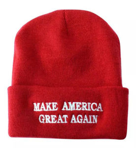 MAKE AMERICA GREAT AGAIN Red Beanie Hat