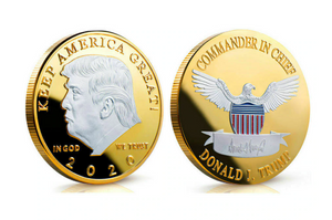 TRUMP 2020 KEEP AMERICA GREAT SILVER GOLD COIN