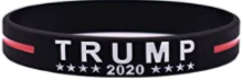 TRUMP 2020 KEEP AMERICA GREAT Black Bracelet