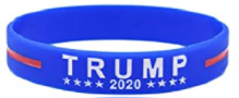 TRUMP 2020 KEEP AMERICA GREAT Blue Bracelet
