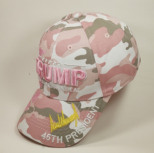 TRUMP SIGNATURE KEEP AMERICA GREAT Pink Camo Hat Baseball Cap