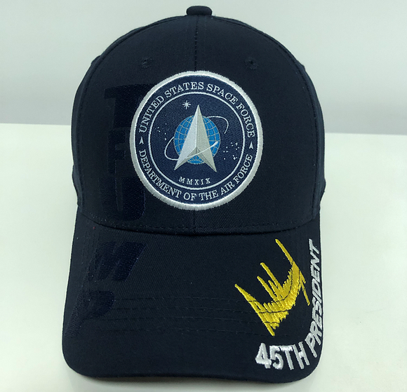 TRUMP SIGNATURE SPACE FORCE Navy Blue Hat Baseball Cap