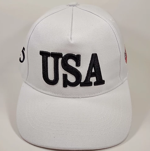 USA TRUMP 2020 45 White Hat Baseball Cap
