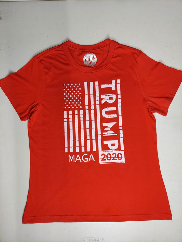 MAGA TRUMP 2020 T-shirt Red Women's Cut