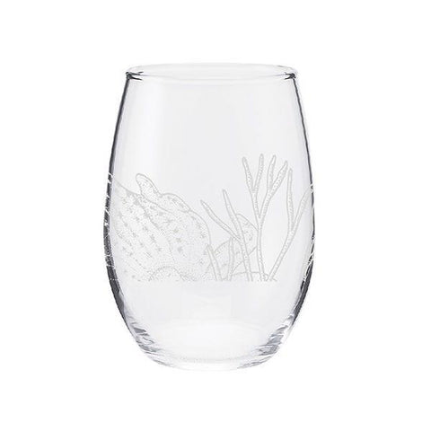 Sea Sketches stemless wine glass