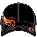 Adult embroidered squid hat