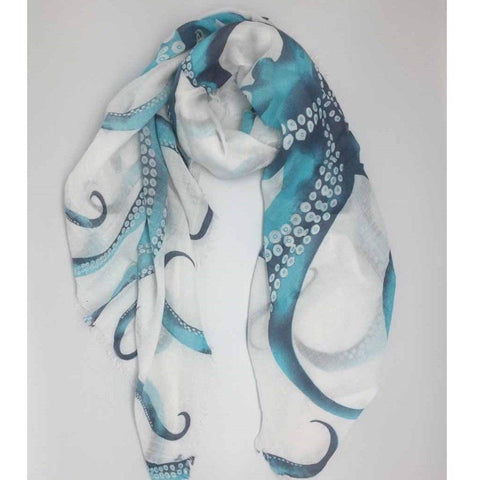 Blue octopus scarf