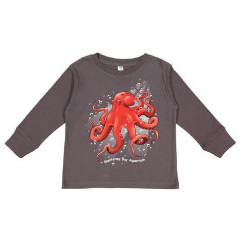 Toddler octopus bubble long sleeve tee