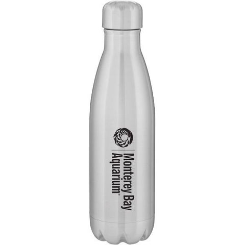 Water bottle logo silver