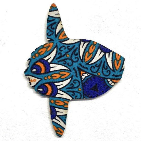 African fabric ornament mola