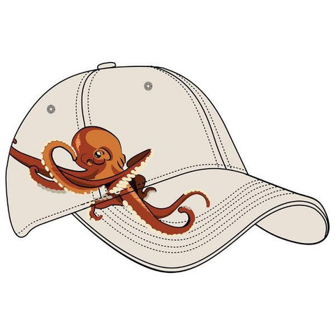 Adult embroidered octopus hat