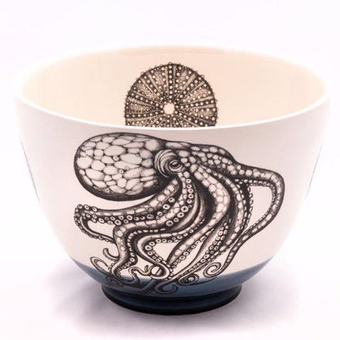Small bowl octopus blue