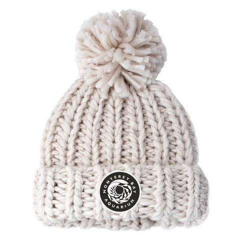 Women's knitted logo patch beanie