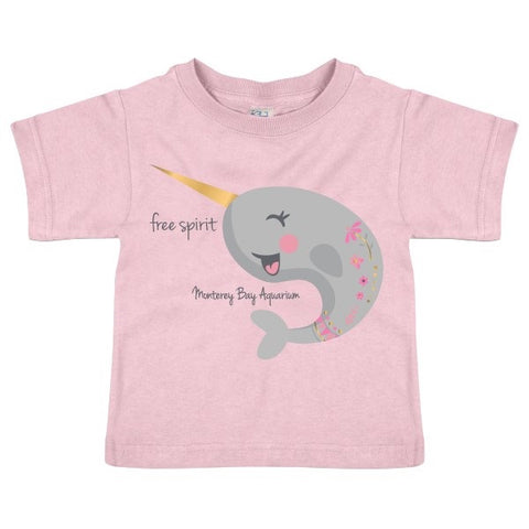 Toddler narwhal short sleeve tee