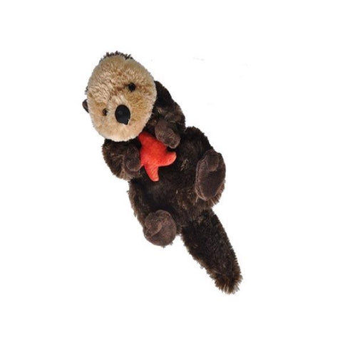 Sea otter with star plush 10""