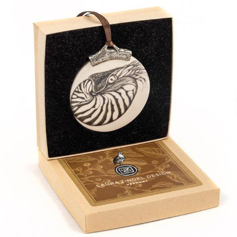 Handcrafted nautilus boxed ornament