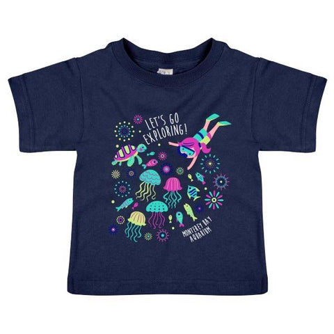 Toddler let's go exploring short sleeve tee