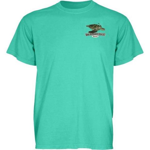 Adult subaquatic sea turtle short sleeve tee