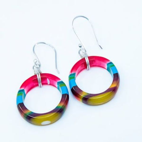 Upcycled surfboard resin small hoop earrings