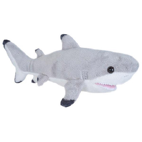 Black tip shark plush 11""