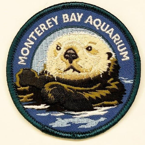 Collectible patch sea otter