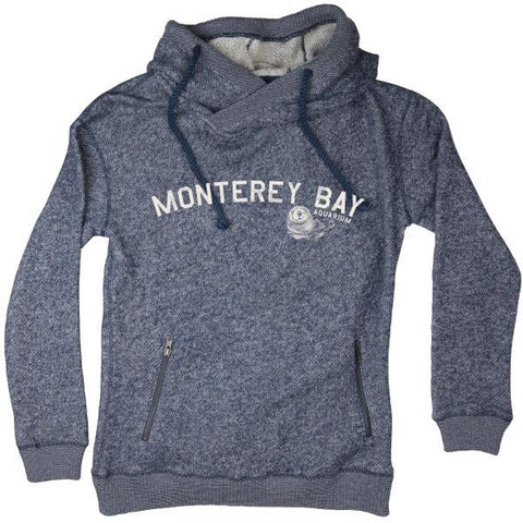 Women's sea otter hooded sweatshirt with zippered pockets
