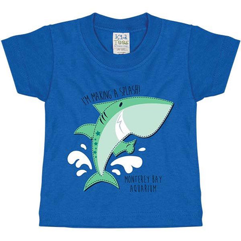 Infant shark splash short sleeve tee