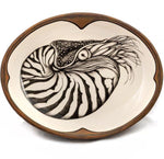 Small serving dish nautilus brown