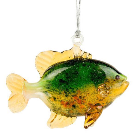 Glass ornament spotted sunfish
