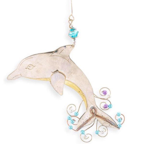 Metal ornament dolphin