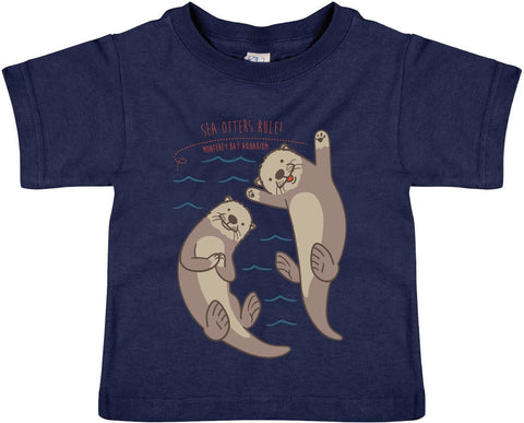 Toddler otters rule short sleeve tee