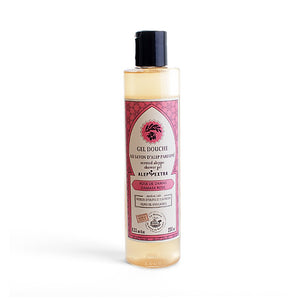 Shower gel with perfumed Aleppo Soap - Rose De Damas