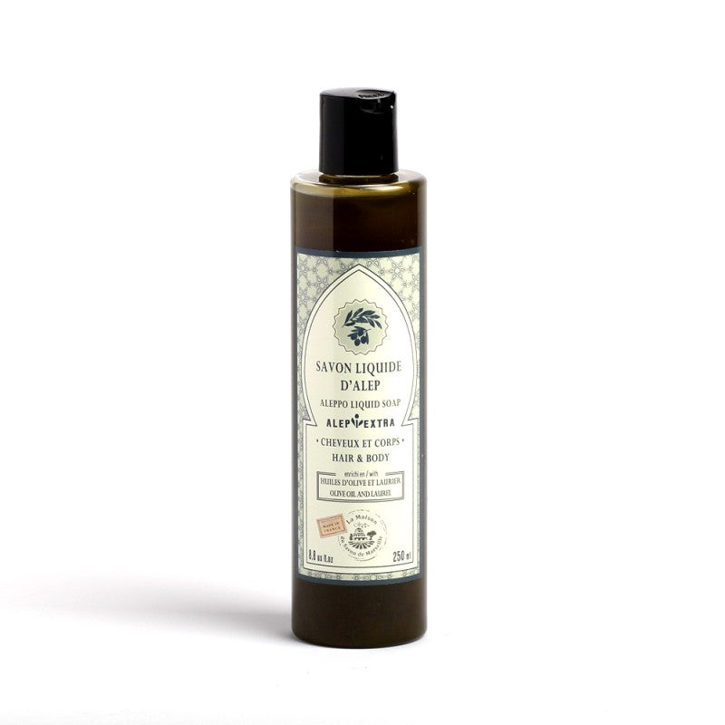 Liquid Aleppo soap for body and hair - Natural Laurel