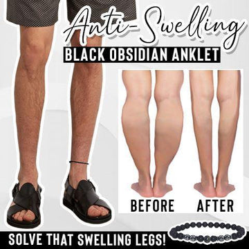 Anti-Swelling Black Obsidian Anklet【Father's Day Sale】