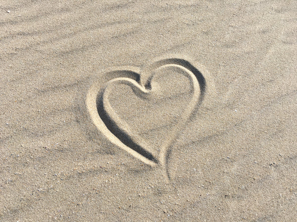 Heart in Sand at Lookout Beach in Plettenberg Bay