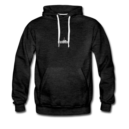 The Recinos Co. Adult Macro #Praise Premium Hoodie - charcoal gray