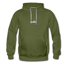 Load image into Gallery viewer, The Recinos Co. Adult Macro #Praise Premium Hoodie - olive green