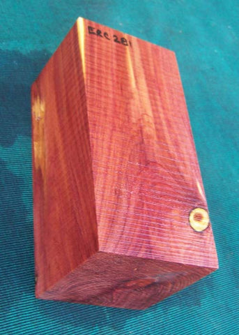 "Aromatic Purple Heart Cedar Block ERC-281 3"" x 3"" x 6.2"""