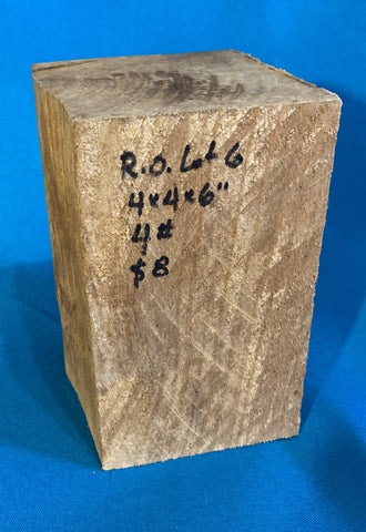 "Red Oak Block RO-6 3.7"" x 3.8"" x 6"""