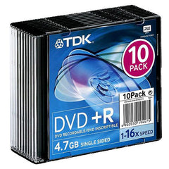 DVD+R TDK, 4.7 GB, 16x, (SLIM CASE)
